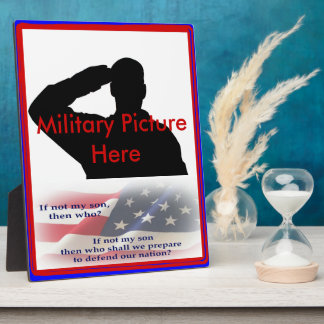 Proud Parent of Military Son Frame Photo Plaques