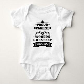 proud parent of world's greatest gecko baby bodysuit