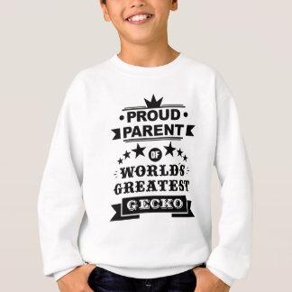 proud parent of world's greatest gecko sweatshirt