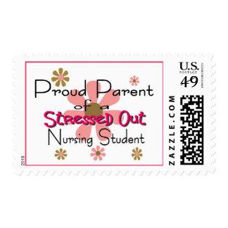 "Proud Parent ""Stressed Nursing Student"" Postage"
