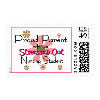 "Proud Parent ""Stressed Nursing Student"" Postage Stamp"