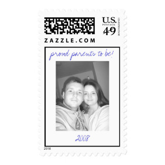 proud parents to be 2008 - Customized Postage Stamp