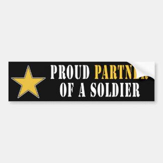 Proud Partner of a Soldier Bumper Sticker