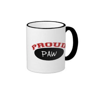 Proud Paw (Black and Red) Ringer Mug