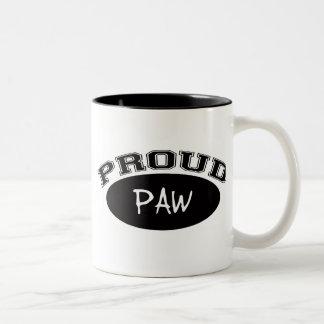 Proud Paw (Black) Two-Tone Coffee Mug