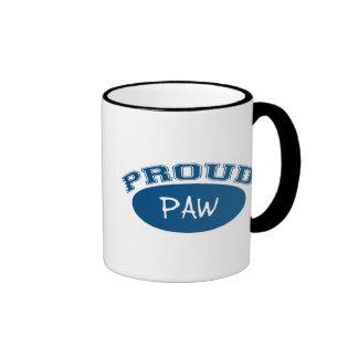 Proud Paw (Blue) Ringer Mug