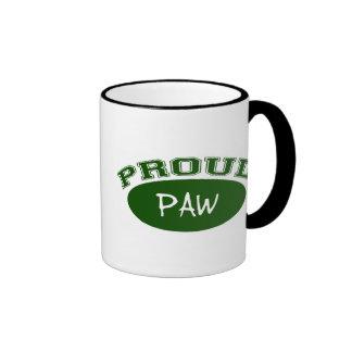 Proud Paw (Green) Ringer Mug