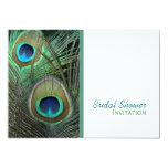 "Proud Peacock Bridal Shower Invitation 5"" X 7"" Invitation Card"