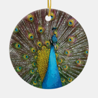 Proud Peacock Christmas Ornament