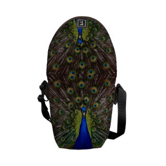 Proud Peacock messenger bag