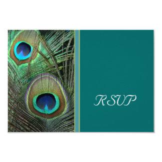 Proud Peacock RSVP Card