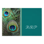 Proud Peacock RSVP Card Personalized Invitations