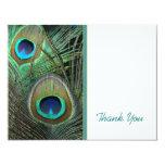 Proud Peacock Thank You Card Custom Announcement