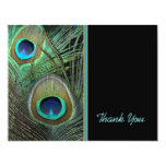 """Proud Peacock Thank You Card 4.25"""" X 5.5"""" Invitation Card"""