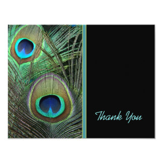 Proud Peacock Thank You Card Announcement