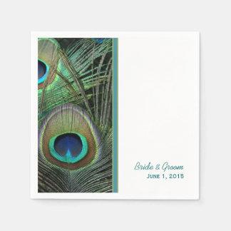 Proud Peacock Wedding Paper Napkins
