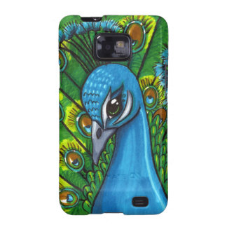 Proud Peafowl illustration Galaxy S2 Covers