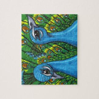 Proud Peafowl illustration Jigsaw Puzzles