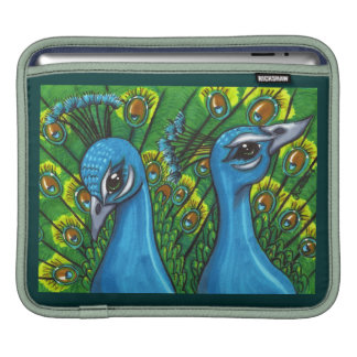 Proud Peafowl illustration Sleeve For iPads