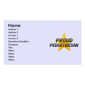 Proud Pediatrician Business Card