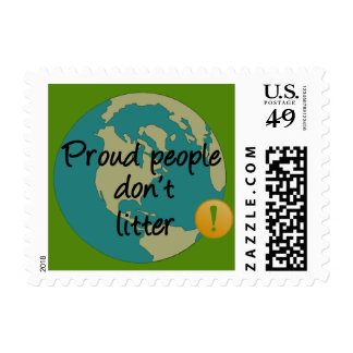 Proud People Don't Litter Postage