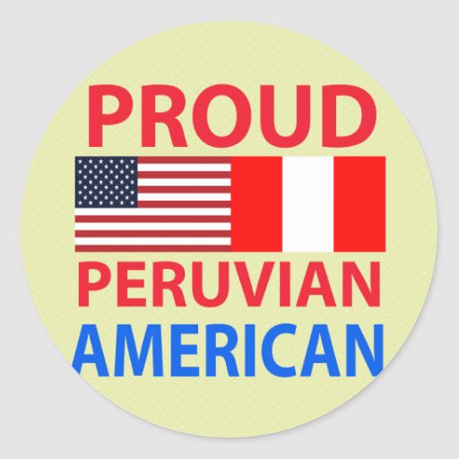 Proud Peruvian American Classic Round Sticker