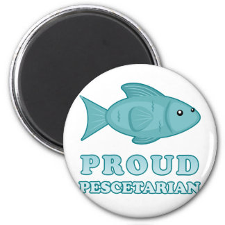 Proud Pescetarian 2 Inch Round Magnet
