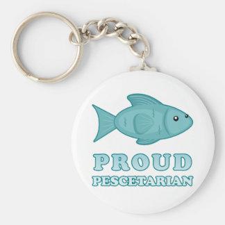 Proud Pescetarian Basic Round Button Keychain