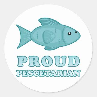 Proud Pescetarian Classic Round Sticker