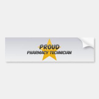 Proud Pharmacy Technician Car Bumper Sticker