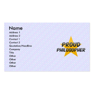 Proud Philosopher Business Card