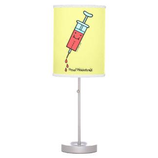 Proud Phlebotomist - Cute Phlebotomy syringe Desk Lamp