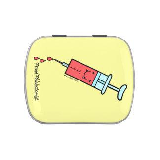 Proud Phlebotomist - Cute Phlebotomy syringe Jelly Belly Tin
