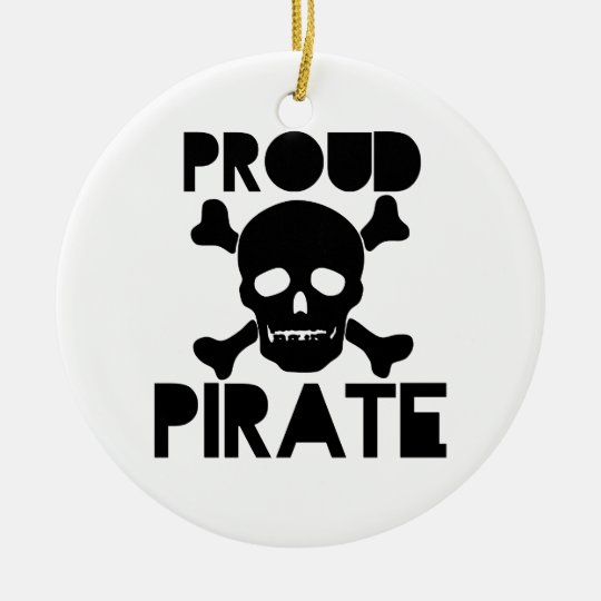 Proud Pirate Ceramic Ornament