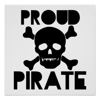 Proud Pirate Poster