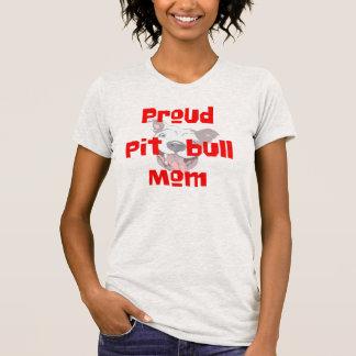proud pit bull mom gift dog lover t-shirt design