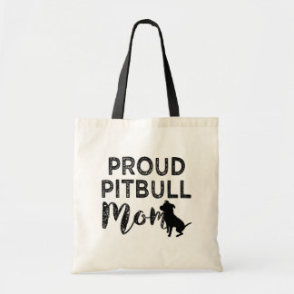 Proud Pit bull Mom tote bag