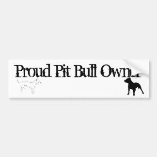 Proud Pit Bull Owner Bumper Sticker Car Bumper Sticker
