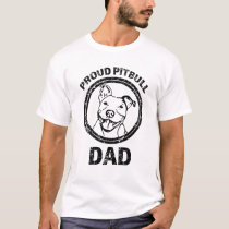 Proud Pitbull Dad mens shirt