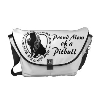 Proud Pitbull Mom Messenger Bag