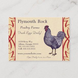 Poultry farmer business cards zazzle proud plymouth rock rooster poultry farm business card colourmoves