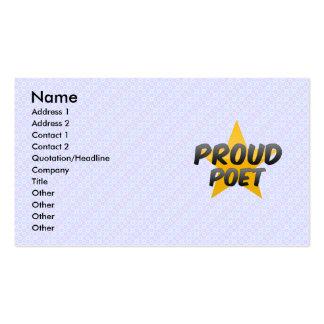 Proud Poet Business Card Templates