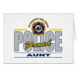 Proud Police Aunt Greeting Cards