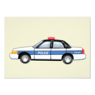 Proud Police Car Card