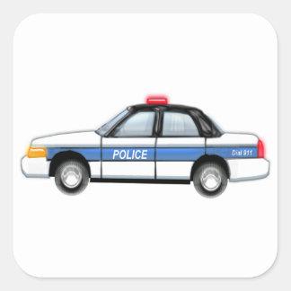 Proud Police Car Square Sticker