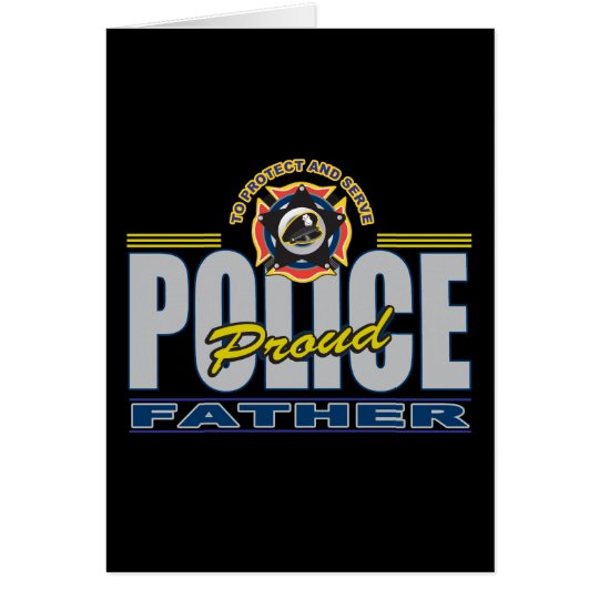 Proud Police Father Card