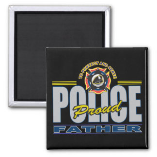 Proud Police Father Magnet