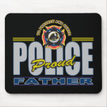 Proud Police Father Mouse Pad