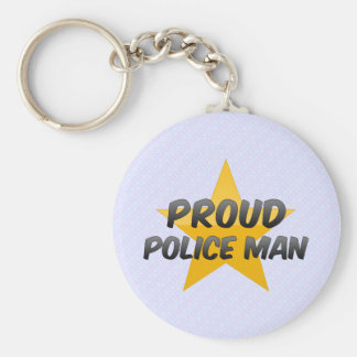 Proud Police Man Keychains