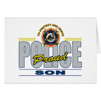 Proud Police Son Card